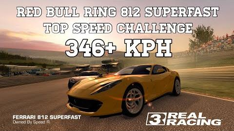 Real Racing 3 Red Bull Ring 812 Superfast Top Speed Challenge 346 kph RR3