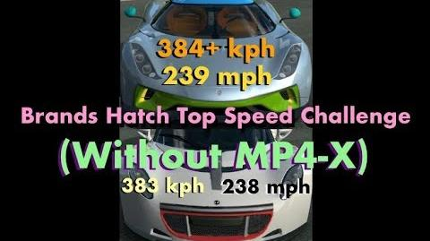 Real Racing 3 Brands Hatch Top Speed Challenge WITHOUT the MP4-X