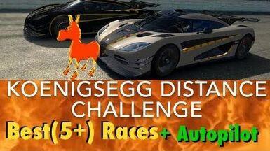 Real Racing 3 RR3 Koenigsegg Distance Challenge Best Races and Autopilot