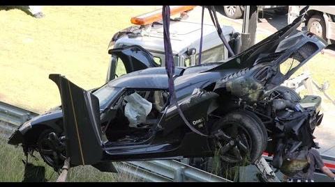 18.07.2016 Koenigsegg One 1 heavy highspeed crash Nürburgring Nordschleife