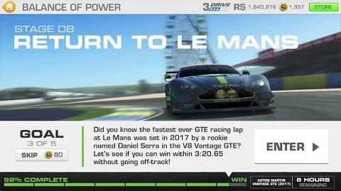 Balance of Power, Stage 8 Race 3, 3331311 Upgrades
