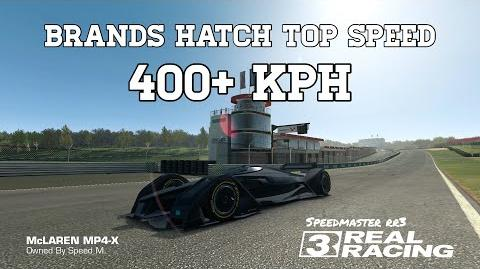Real Racing 3 Brands Hatch Top Speed Challenge 400 kph McLaren MP4-X RR3