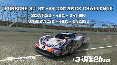 Real Racing 3 Porsche 911 GT1-98 Distance Challenge Easiest Race Including Unserviced Run RR3