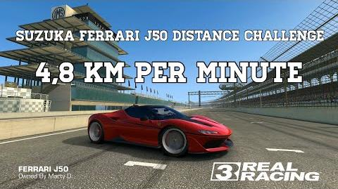Real Racing 3 Suzuka Ferrari J50 Distance Challenge ANY TRACK.