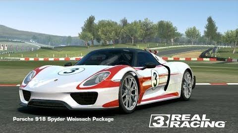Real Racing 3 - Team Event - Pro Speed Snap - Porsche 918 Spyder Weissach Package