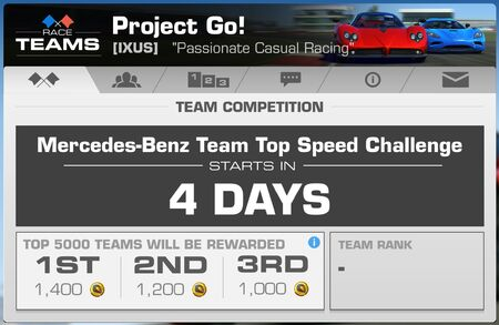 IXUS] PROJECT GO! - 9 DRIVERS NEEDED! | Real Racing 3 Wiki | FANDOM