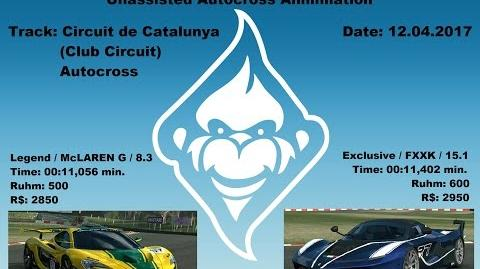 TC autocross comparison McLaren P1 GTR FXXK-2