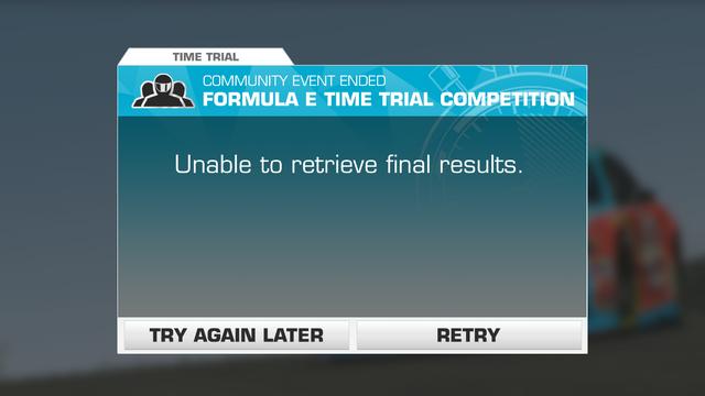 Formula E TT Reward Error
