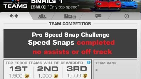TC Pro Speed Snap only finsih no offtrack no assists