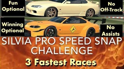 Real Racing 3 RR3 SILVIA Pro Speed Snap Challenge 3 Fastest Races