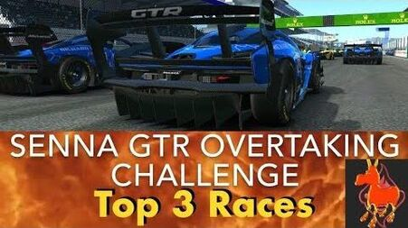 Real Racing 3 RR3 Senna GTR Overtaking Challenge Top 3 Races