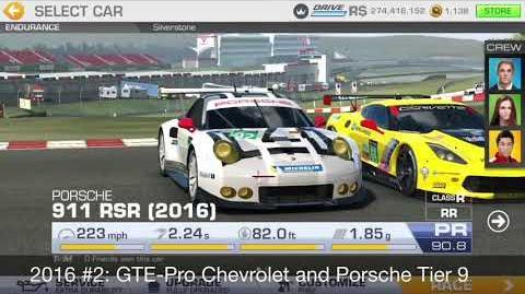 911 RSR Laps Challenge Fastest Races for each car