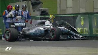Hamilton Crashes Out of Qualifying 2017 Brazil Grand Prix