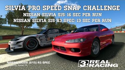 Real Racing 3 SILVIA Pro Speed Snap Challenge Best Race Per Car Best Race 13 Sec Per Run RR3