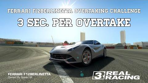 Real Racing 3 Ferrari F12Berlinetta Overtaking Challenge 3 Seconds Per Overtake With Slow Bots RR3