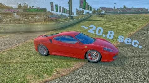 TC Autocross F430 ~20,8 sec per run