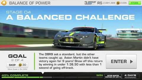 Balance of Power, Stage 4 Race 2, R$ Upgrades