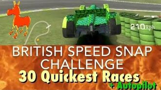 Real Racing 3 RR3 British Speed Snap Challenge 30 Quickest Races and Autopilot
