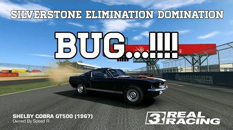 Real Racing 3 Silverstone Elimination Domination Bug.