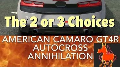 Real Racing 3 RR3 American Camaro GT4R Autocross Annihilation The 2 or 3 Choices-0