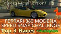 Real Racing 3 RR3 Ferrari 360 Modena Speed Snap Challenge Top 3 Races and Autopilot (Crazy Metal)-0