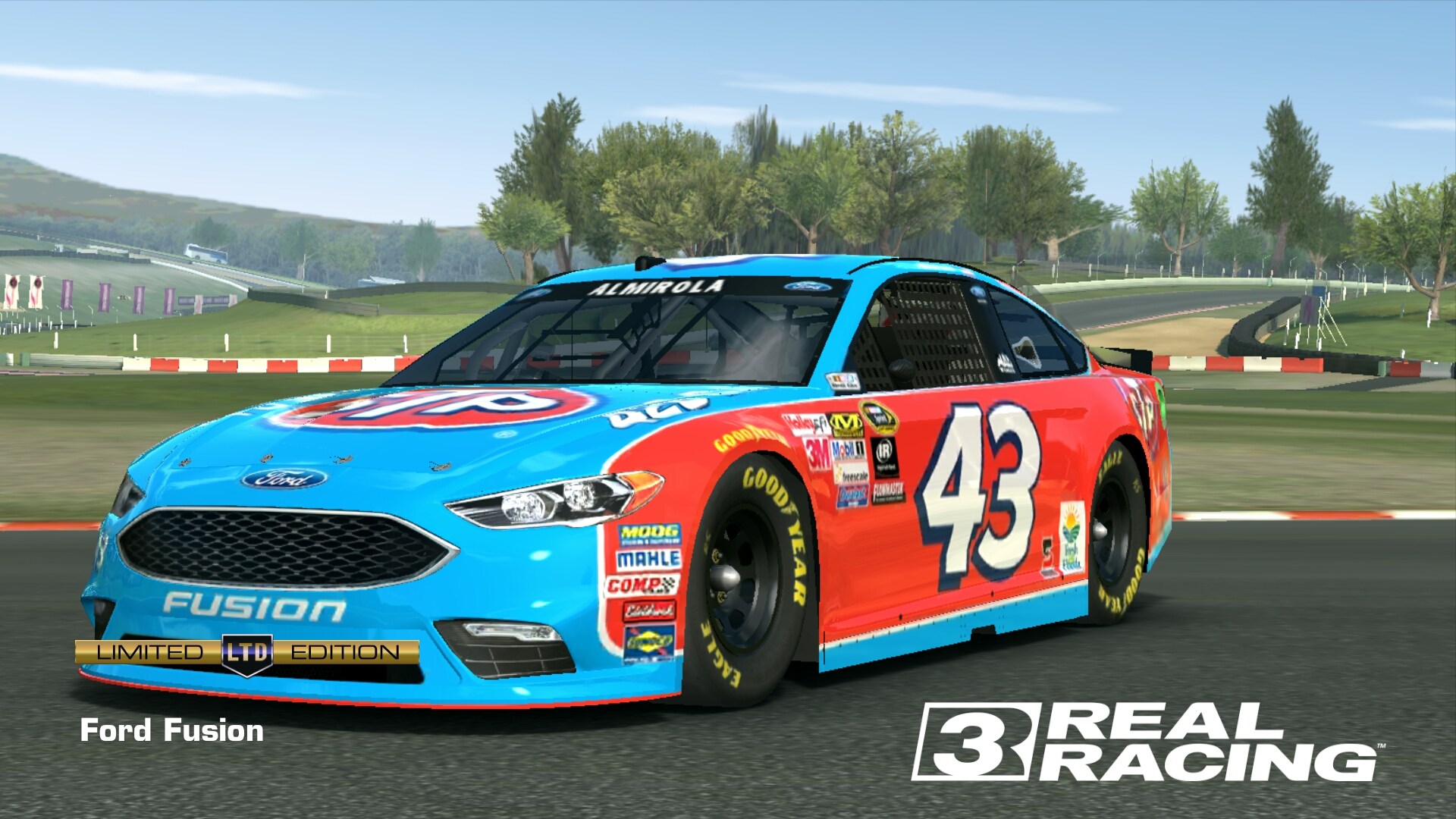 Ford Fusion Richard Petty Motorsports Real Racing 3