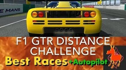 Real Racing 3 RR3 F1 GTR Distance Challenge Best Races and Autopilot