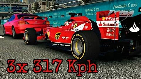 Top Speed Challenge Hong Kong 3 ways 317 Kph Ferrari F14T-0