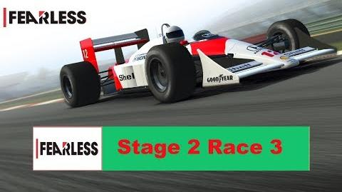 Fearless Stage 2 Race 3 no upgrades