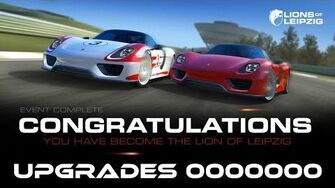 Real Racing 3 Lions Of Leipzig Stage 7 Complete Upgrades 0000000 Earning 60 gold And Free Car RR3-1