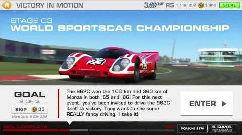 Victory in Motion, Stage 3 Race 2, using Porsche 962C