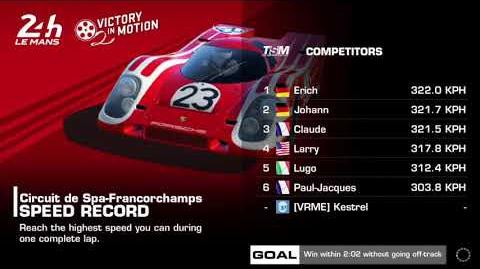 Victory in Motion, Stage 5 Race 1, Upgrades 1131111