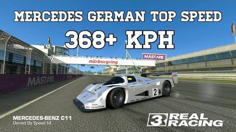 Real Racing 3 Mercedes German Top Speed Challenge 368 KPH RR3