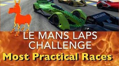 Real Racing 3 RR3 Le Mans Laps Challenge Most Practical Races