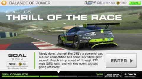 Balance of Power, Stage 5 Race 3, 3131111 Upgrades