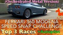 Real Racing 3 RR3 Ferrari 360 Modena Speed Snap Challenge Top 3 Races Autopilot (Orchestra Metal)-0