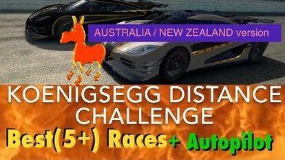 Australia NZ Version Real Racing 3 RR3 Koenigsegg Distance Challenge Best Races and Autopilot