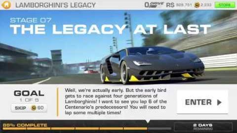 Lamborghini's Legacy, Stage 7 Race 1, Upgrades 3232122