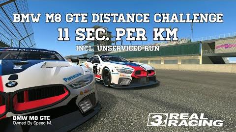 Real Racing 3 BMW M8 GTE Distance Challenge 11 Sec Per Km Incl Unserviced Run RR3