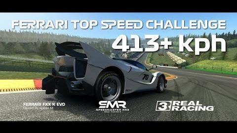 Real Racing 3 Ferrari Top Speed Challenge - 413 kph