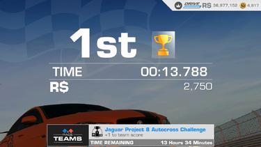 Jaguar Project 8 Autocross Challenge 00 13.788
