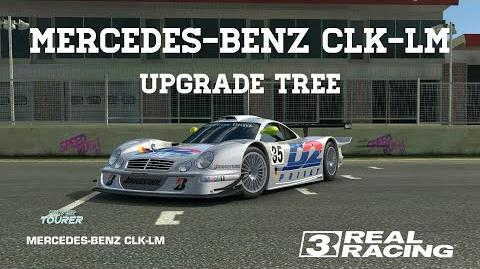 Real Racing 3 Mercedes-Benz CLK-LM Upgrade Tree RR3