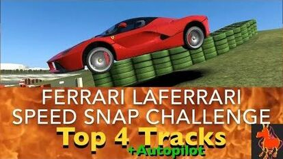 Real Racing 3 RR3 Ferrari LaFerrari Speed Snap Challenge Top 4 Tracks and Autopilot
