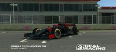 New Black and Red F1 Academy Car