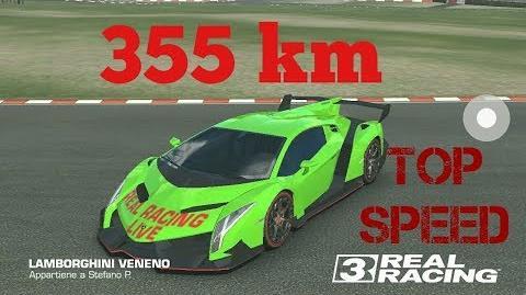 Real Racing 3 Lamborghini Veneno 355 Km