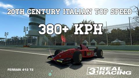 Real Racing 3 20th Century Italian Top Speed Challenge 380 kph Ferrari 412 T2 RR3