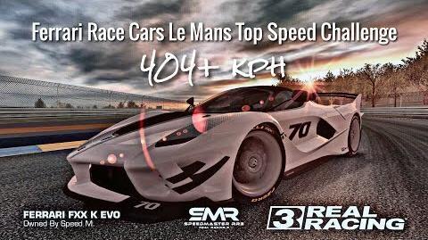 Real Racing 3 Ferrari Race Cars Le Mans Top Speed Challenge 404 kph-0