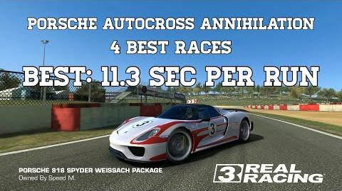 Real Racing 3 Porsche Autocross Annihilation Challenge 4 Best Races (best run 11