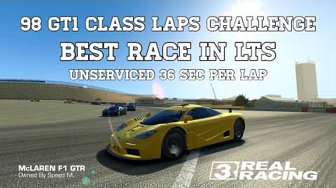 Real Racing 3 98 GT1 Class Laps Challenge Best Race In LTS 36 Sec Per Lap Unserviced RR3