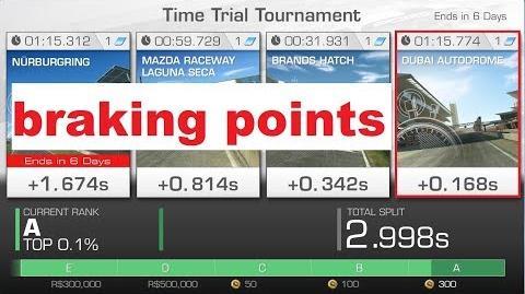 !! braking points!! WTTT Dubai 1 15.774 Pagani Zonda F (no sound)